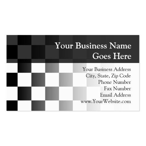 Retro Black/White Contrast Checkerboard Pattern Business Card