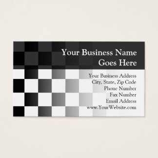 Retro Black/White Contrast Checkerboard Pattern Business Card