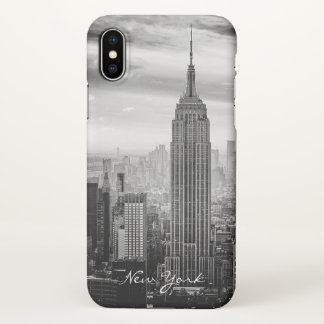 Retro Black White New York City iPhone X Case