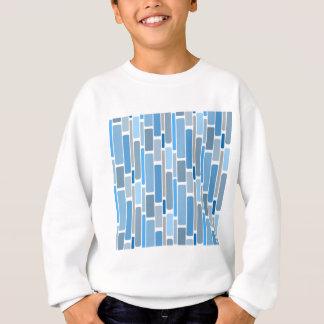 Retro Blocks Blue Grey Sweatshirt