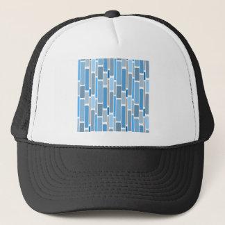 Retro Blocks Blue Grey Trucker Hat