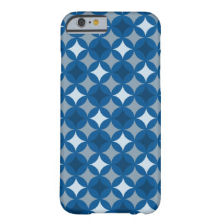 Retro Blue Circle Pattern Barely There iPhone 6 Case