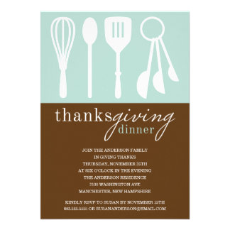 RETRO BLUE COOKING | THANKSGIVING DINNER INVITE