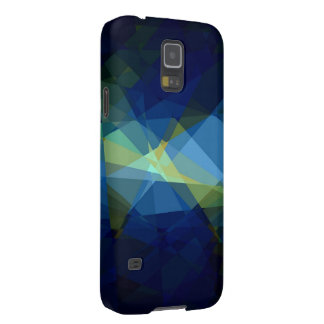 Retro blue cubism abstract art galaxy s5 case