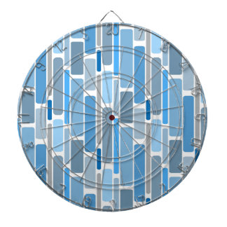 retro blue dartboard