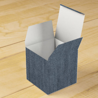 Retro Blue Denim Texture Wedding Favour Boxes
