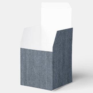 Retro Blue Denim Texture Wedding Favour Boxes