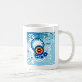 retro blue effect coffee mug