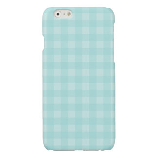 Retro Blue Gingham Checkered Pattern Background