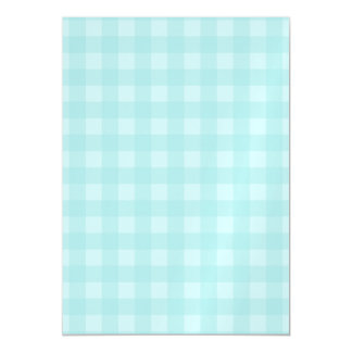 Retro Blue Gingham Checkered Pattern Background Magnetic Invitations