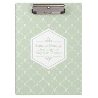 Retro Blue Green Floral Pattern Clipboard