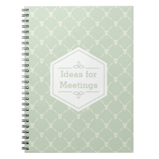 Retro Blue Green Floral Pattern Notebook