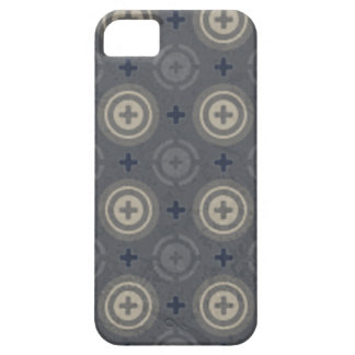 Retro Blue Grunge Polka Dot Design Barely There iPhone 5 Case
