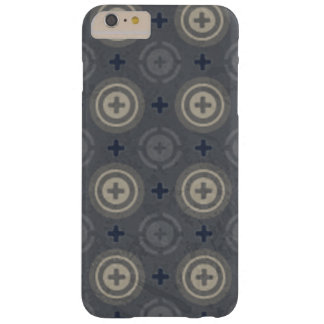 Retro Blue Grunge Polka Dot Design Barely There iPhone 6 Plus Case