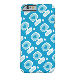 Retro Blue Heart Computer Geeky iPhone 6/6s Case