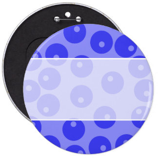 Retro blue pattern Circles design Pins