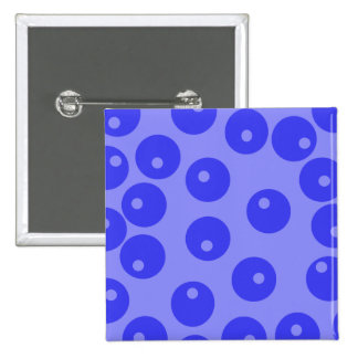 Retro blue pattern Circles design Pinback Buttons