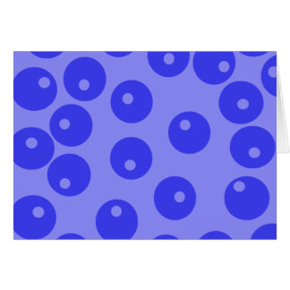 Retro blue pattern. Circles design. Note Card
