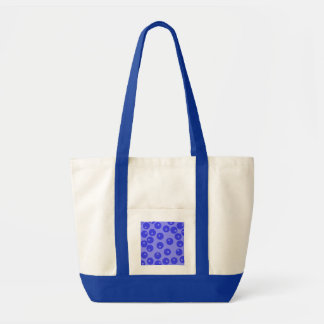 Retro blue pattern. Circles design. Impulse Tote Bag