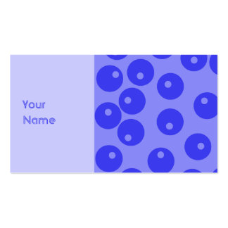 Retro blue pattern. Circles design. Pack Of Standard Business Cards