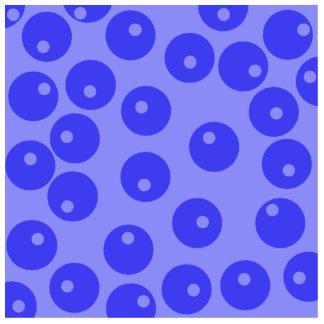 Retro blue pattern. Circles design. Photo Sculpture Magnet