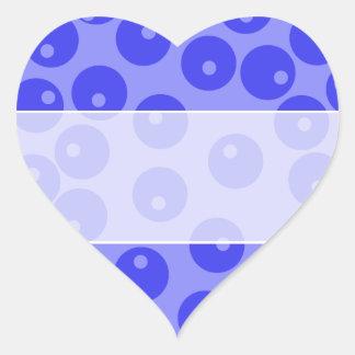 Retro blue pattern. Circles design. Sticker