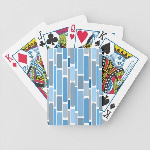 retro blue poker deck
