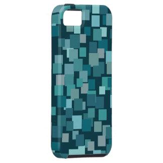 Retro Blue Squares  iPhone 5 Case-Mate