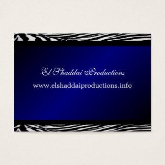 Retro Blue Zebra Business Card