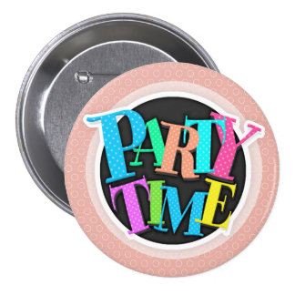 Retro Blush Pink Circles Pattern Pinback Buttons
