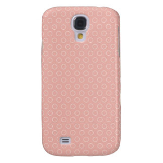Retro Blush Pink Circles Pattern Samsung Galaxy S4 Covers