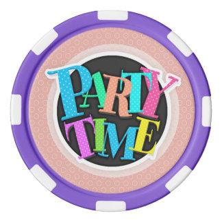 Retro Blush Pink Circles Pattern Set Of Poker Chips