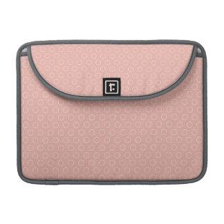 Retro Blush Pink Circles Pattern Sleeves For MacBooks