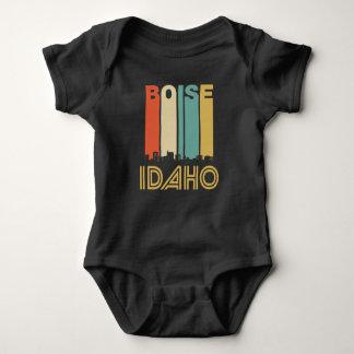 Retro Boise Idaho Skyline Baby Bodysuit