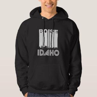 Retro Boise Idaho Skyline Hoodie