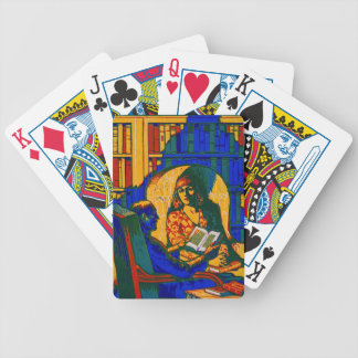 Retro Books Poster 1920 Bicycle Playing Cards