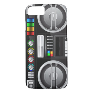 retro boom box ghetto blaster boombox iPhone 8/7 case