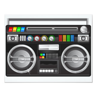retro boombox ghetto blaster graphic card