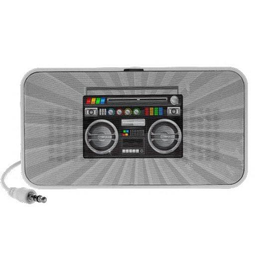 retro boombox ghetto blaster graphic mp3 speakers