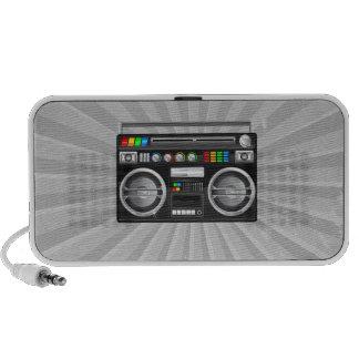 retro boombox ghetto blaster graphic travelling speakers