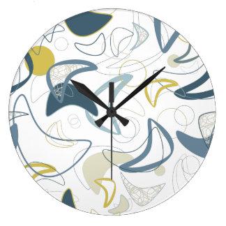 Retro Boomerang! Large Clock