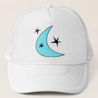 Retro Boomerang Moon & Stars Trucker Hat