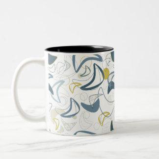 Retro Boomerang! Two-Tone Coffee Mug