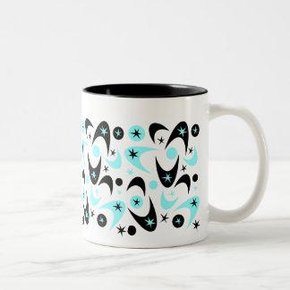 Retro Boomerangs Two-Tone Coffee Mug
