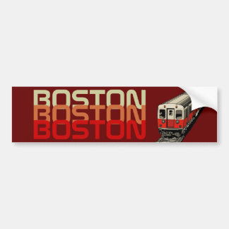 Retro Boston Bumper Sticker