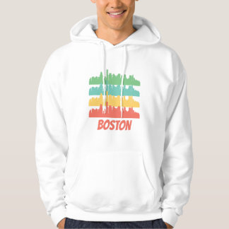 Retro Boston MA Skyline Pop Art Hoodie