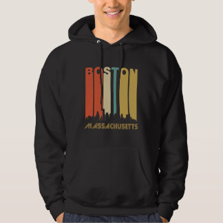 Retro Boston Skyline Hoodie