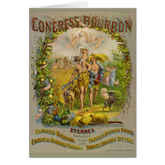 Retro Bourbon Label 1864 Card