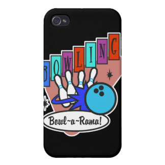 retro bowl-a-rama sign cover for iPhone 4