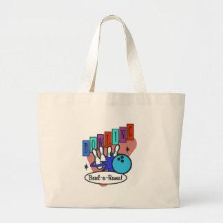 retro bowl-a-rama sign jumbo tote bag